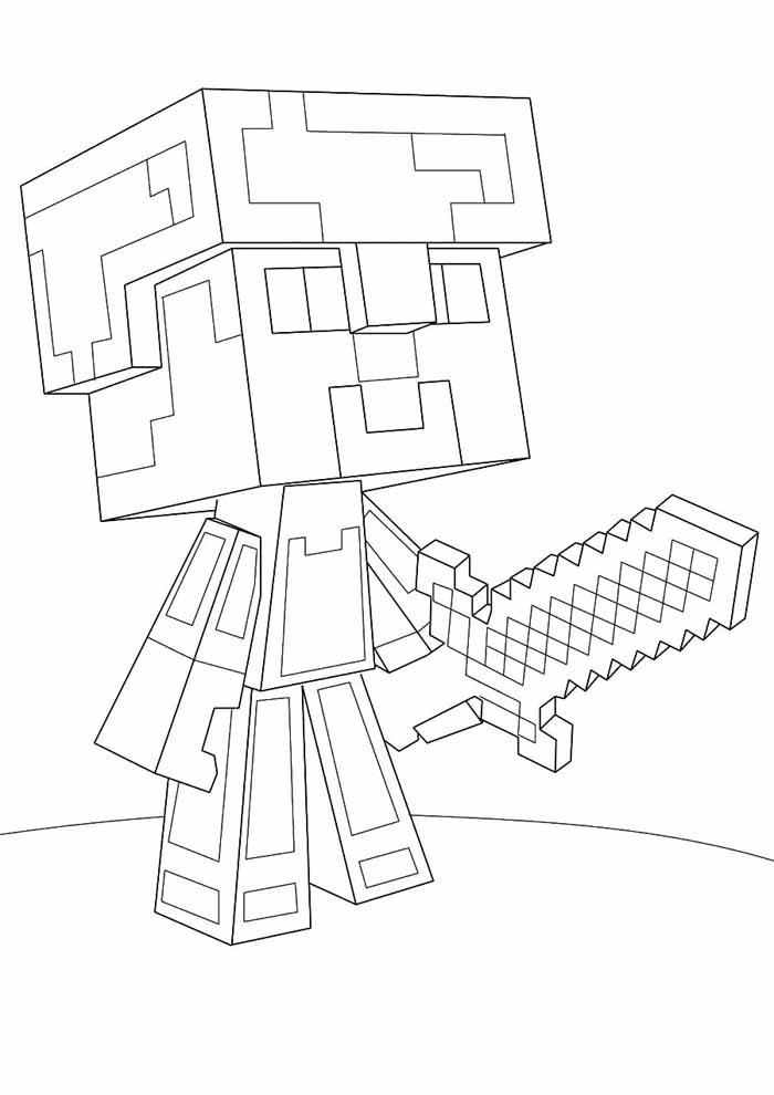 minecraft para colorir 55