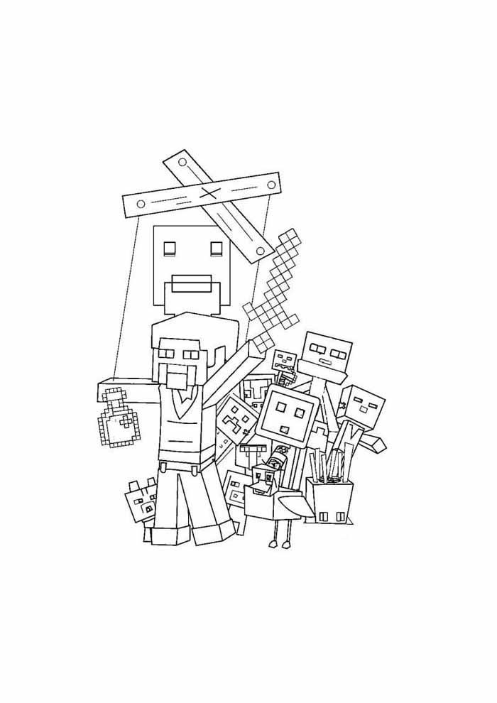 minecraft para colorir 56