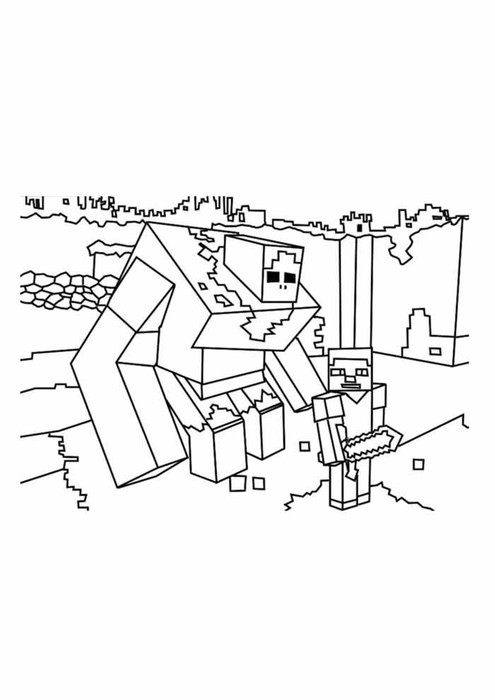 minecraft para colorir 57