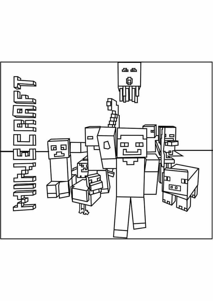 minecraft para colorir 59