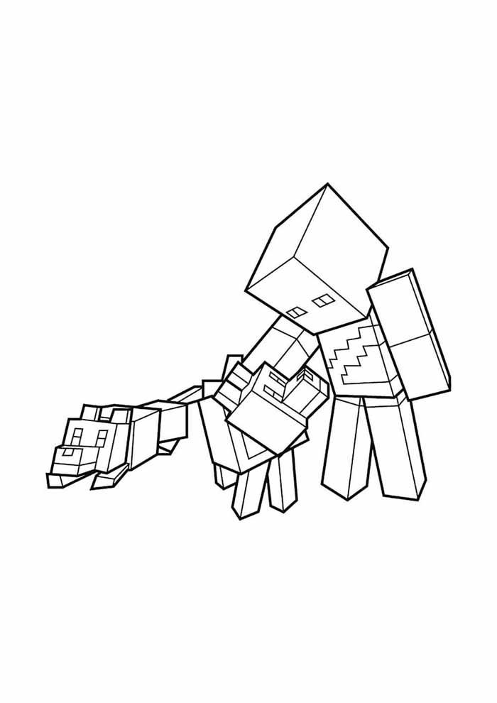 minecraft para colorir 60