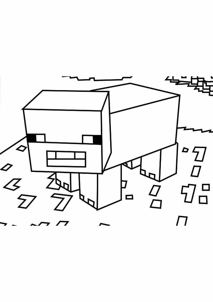 minecraft para colorir 62