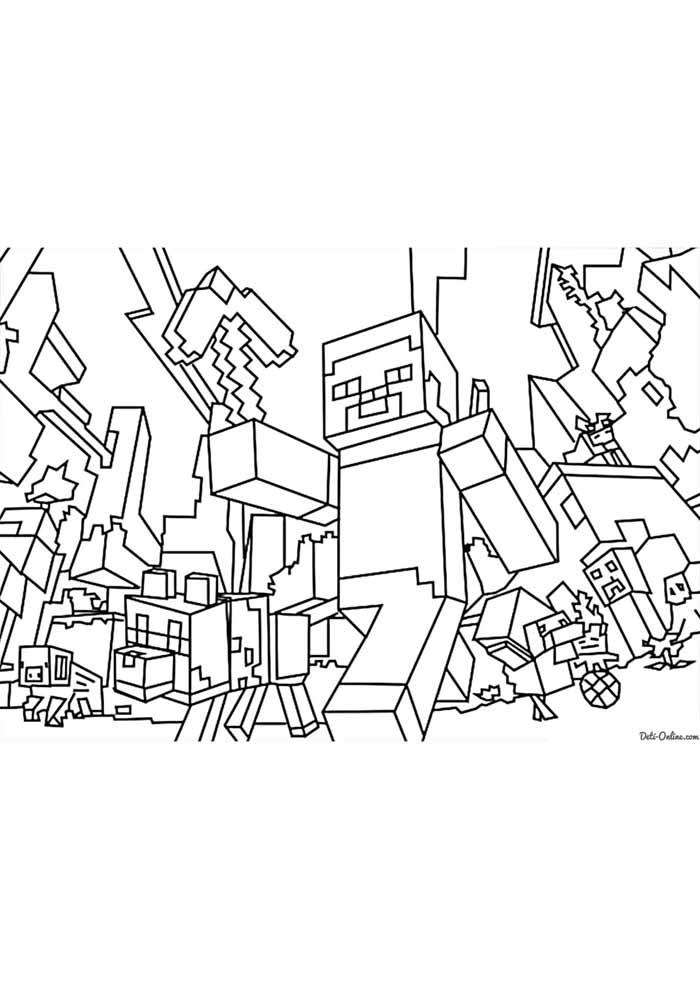 minecraft para colorir 67