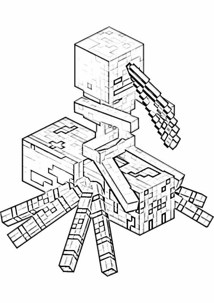 minecraft para colorir 68