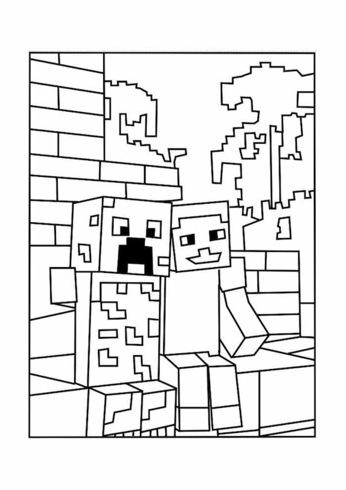 minecraft para colorir 9