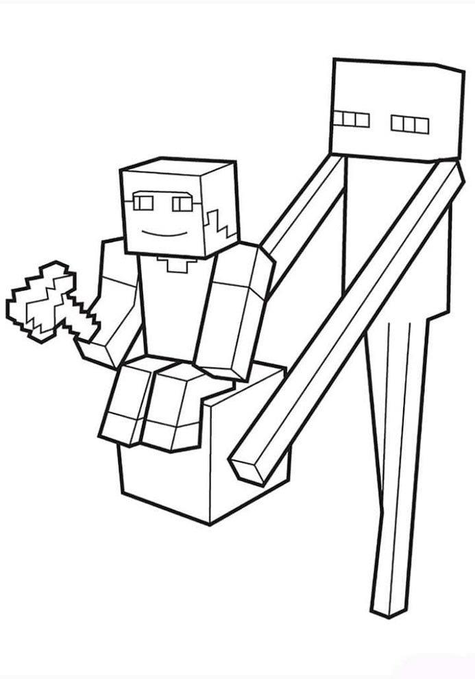 minecraft para colorir e imprimir