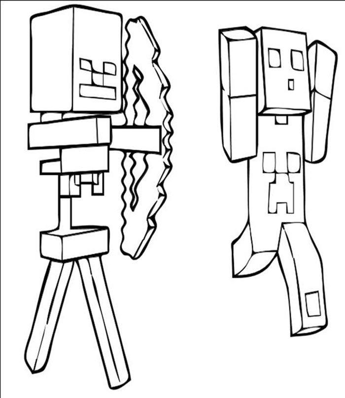 minecraft para imprimir e colorir