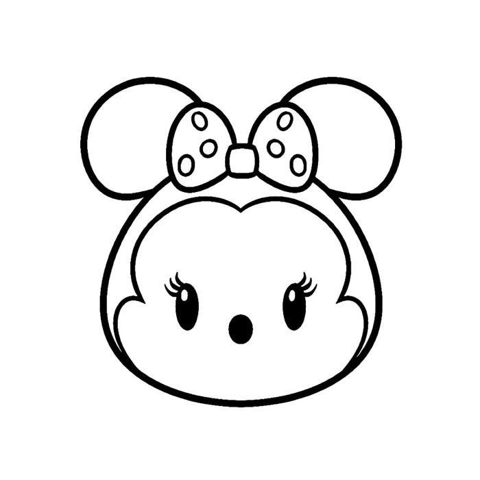 minnie kawaii desenho para colorir