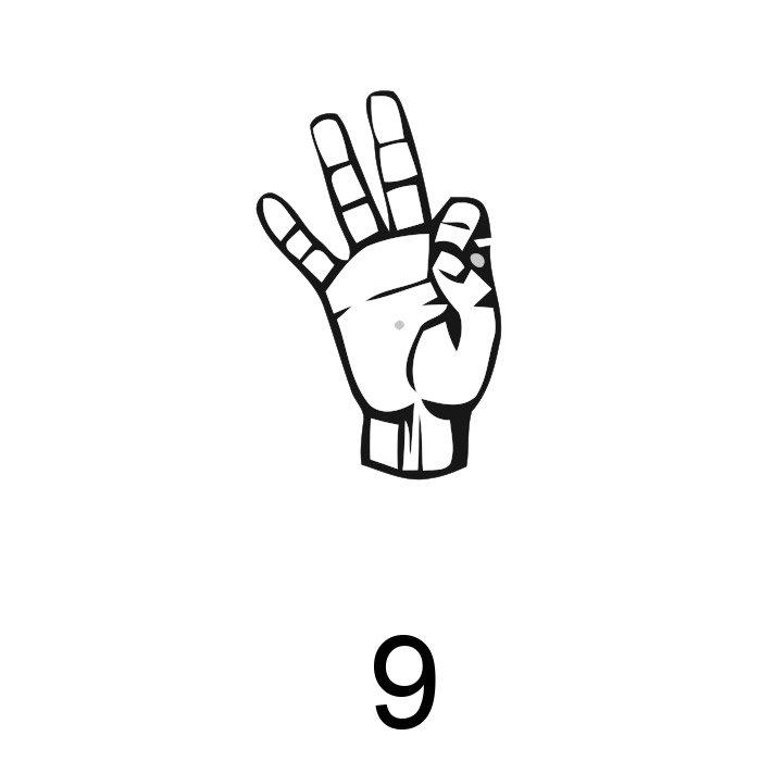 números em libras 9