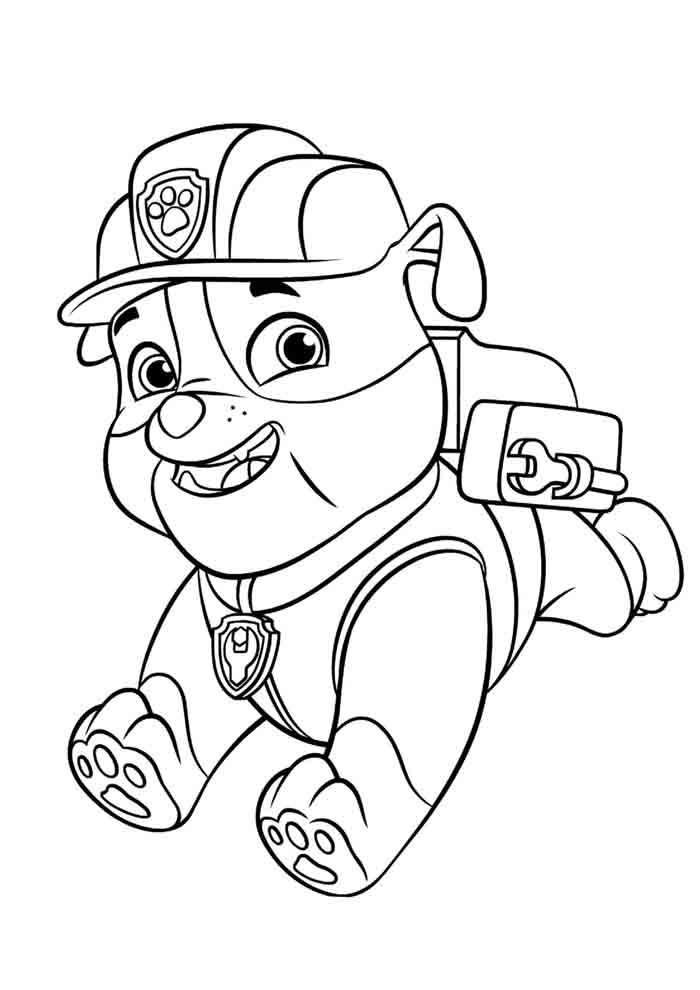 patrulha canina desenho colorir
