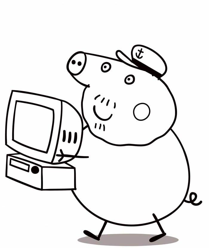 peppa pig colorir