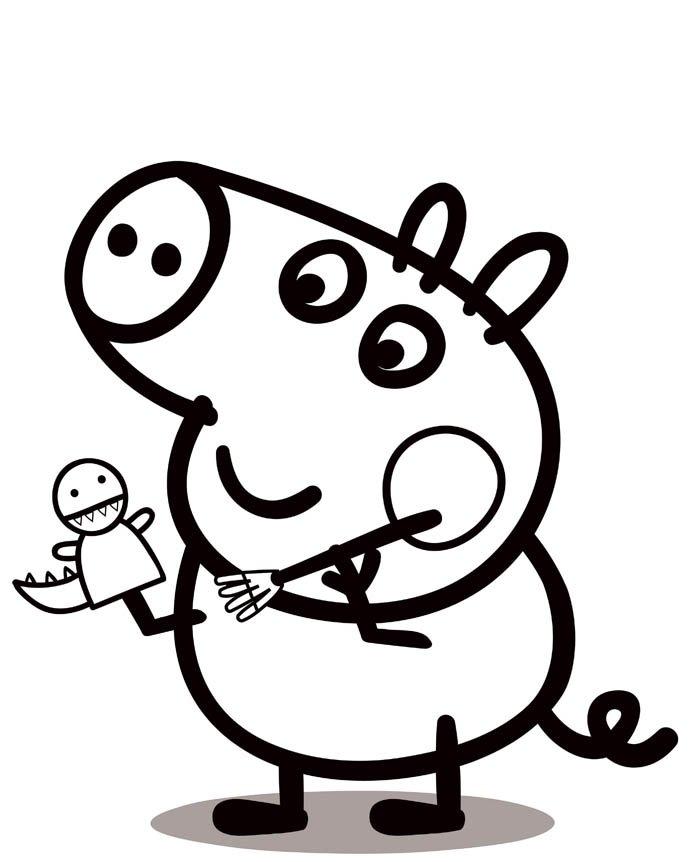 peppa pig desenho colorir