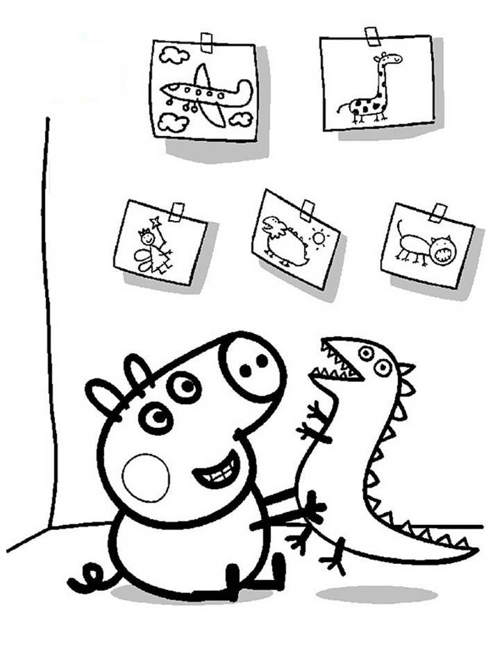 peppa pig desenho para colorir