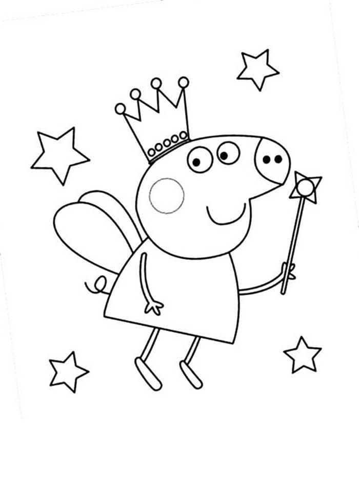 peppa pig desenho para pintar
