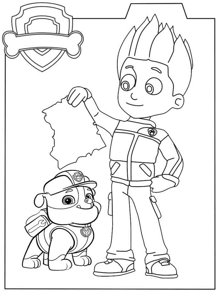 personagens patrulha canina para colorir