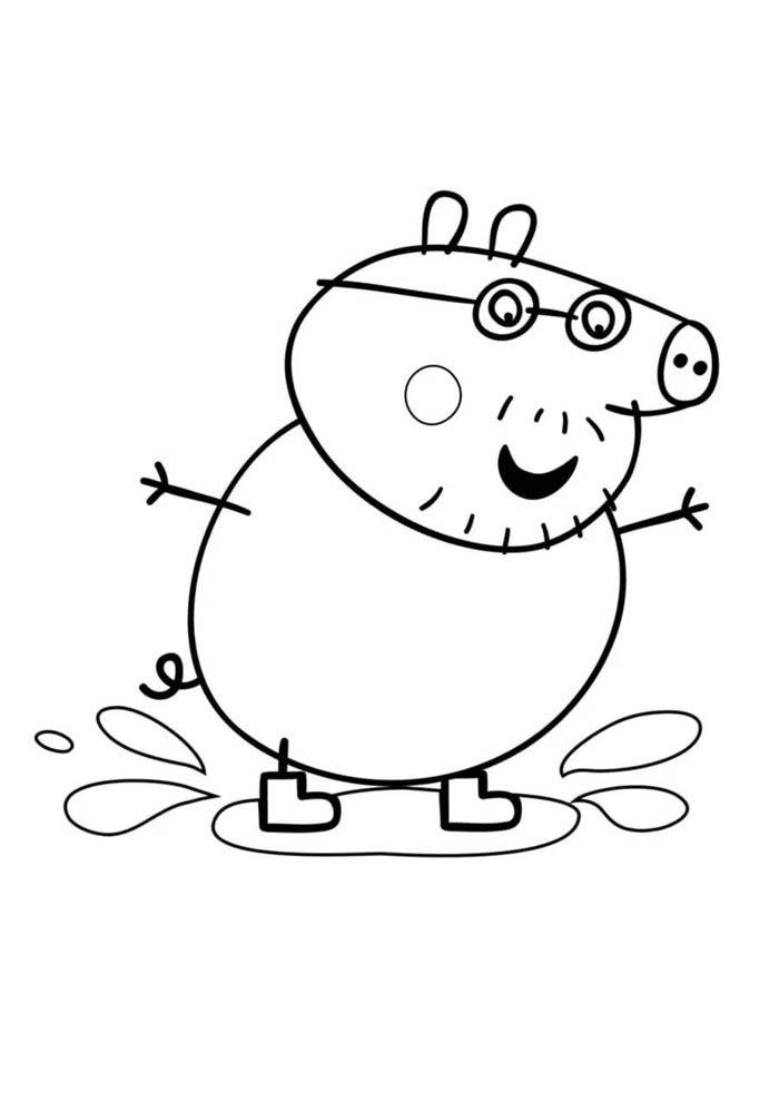 65 Desenhos Da Peppa Pig Para Imprimir E Colorir
