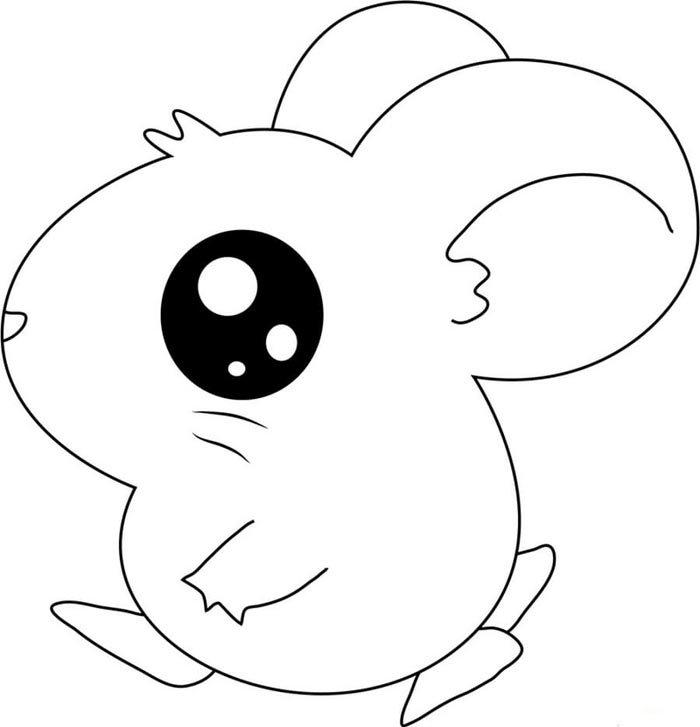 ratinho kawaii para colorir