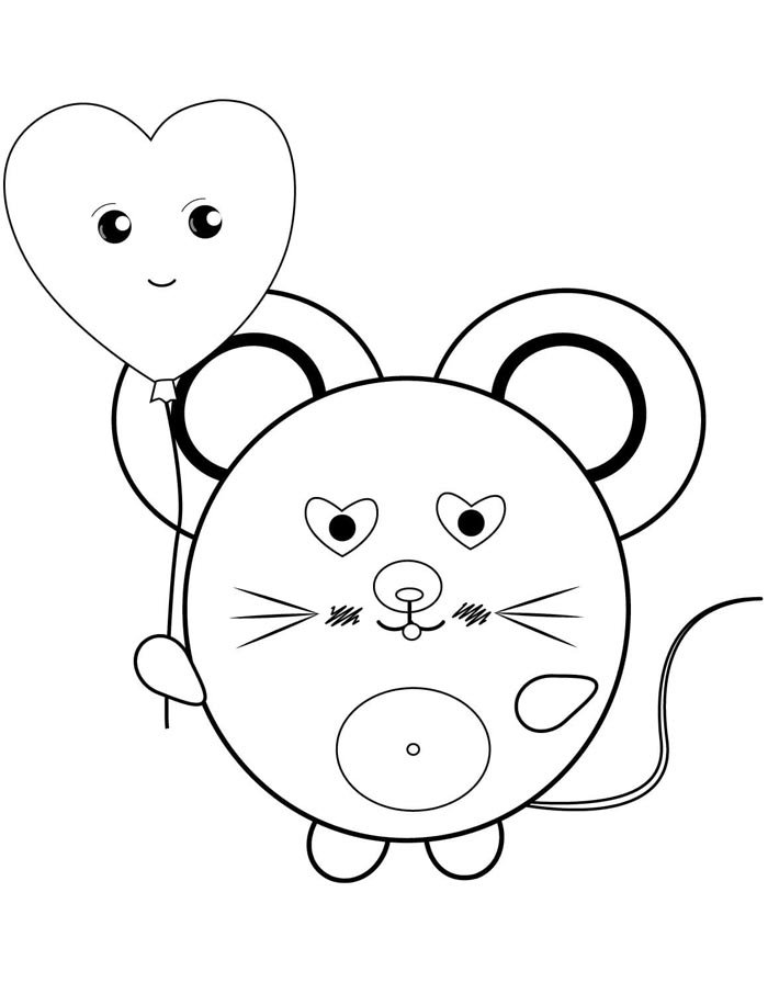 rato kawaii para colorir