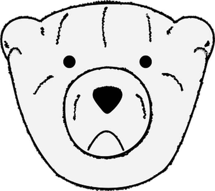 rosto de urso