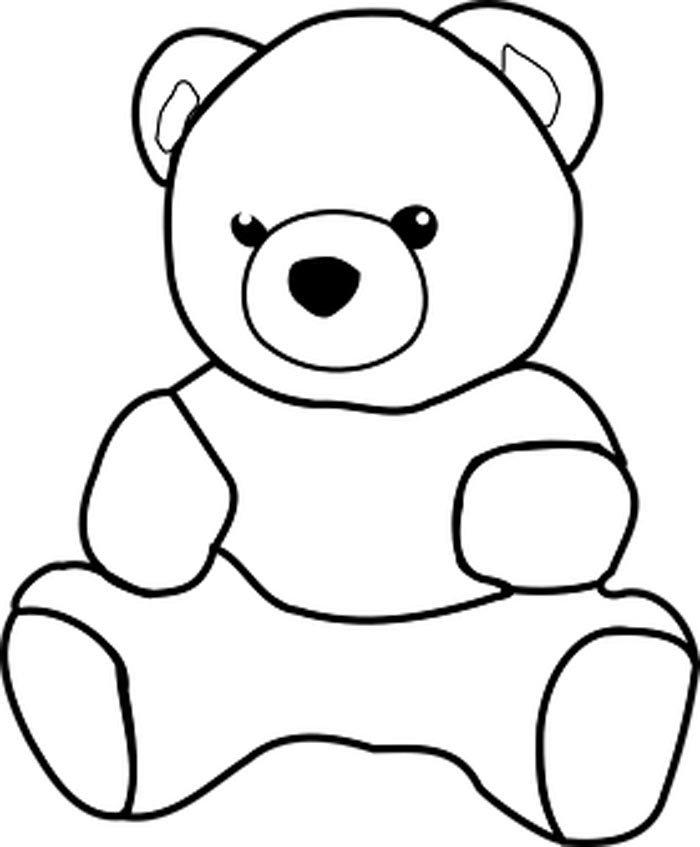urso teddy para colorir