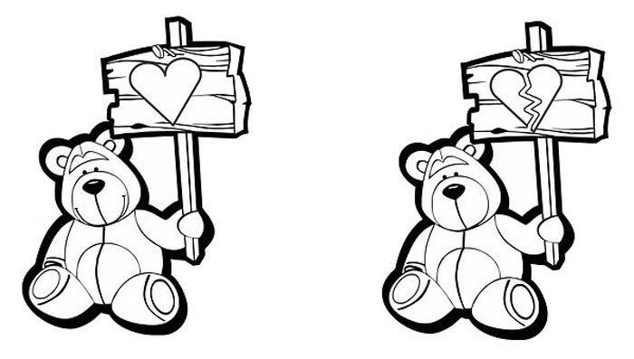 ursos fofos para colorir