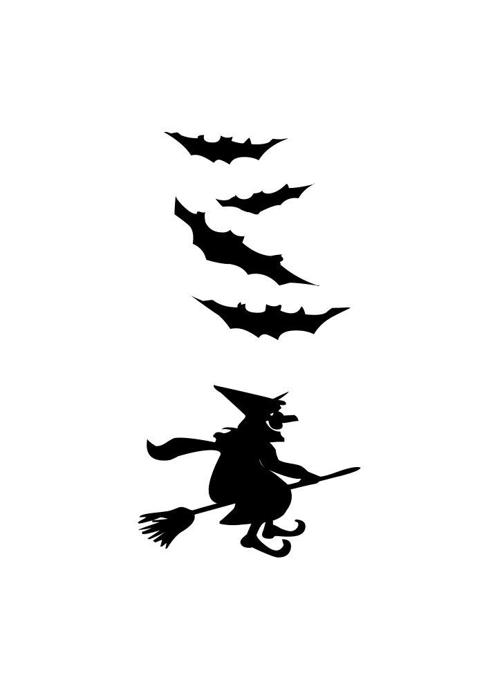 bruxa voando na vassoura