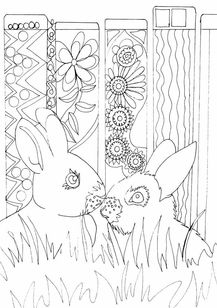 coelho de páscoa para colorir