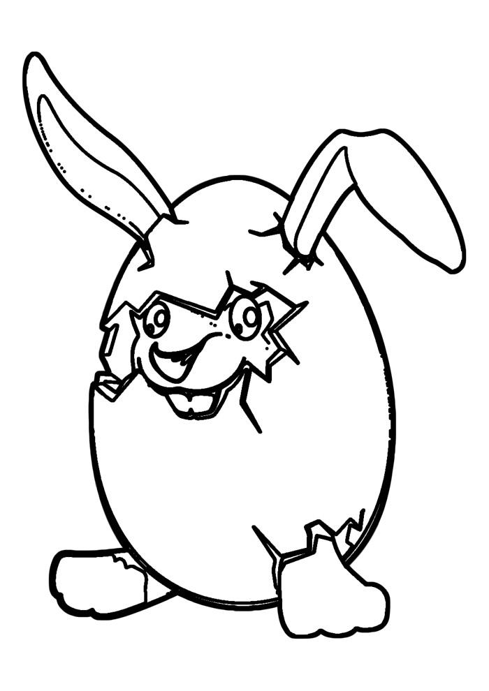 coelho para colorir 1