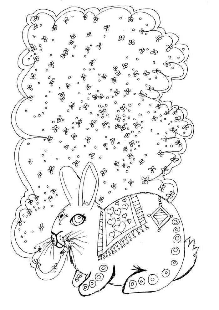coelho para colorir 24