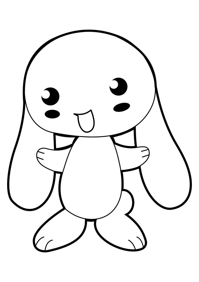 coelho para colorir 3