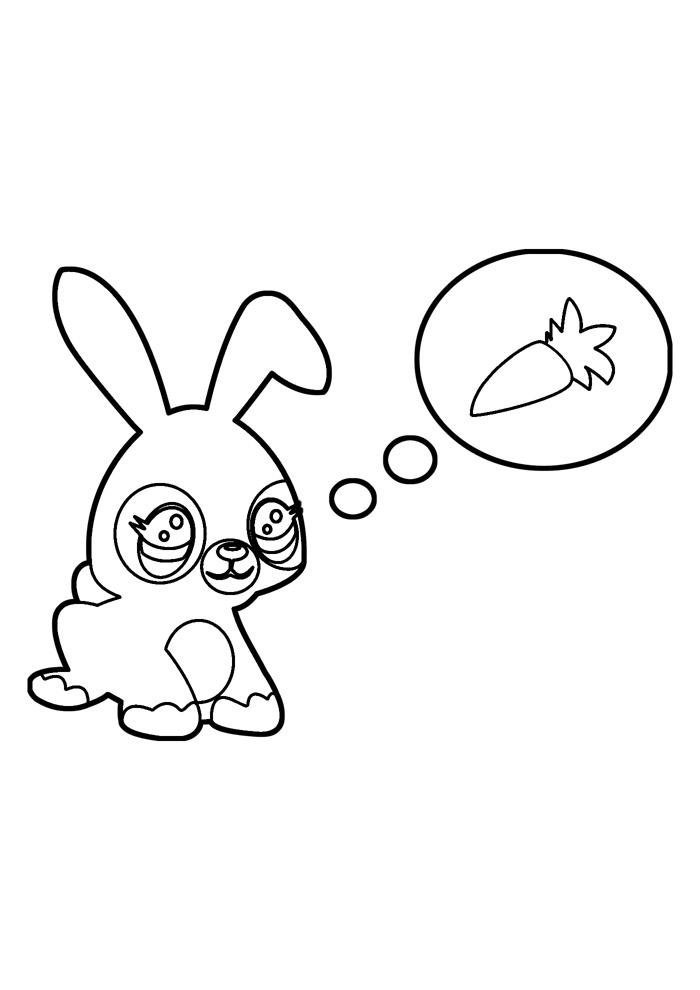coelho para colorir 34