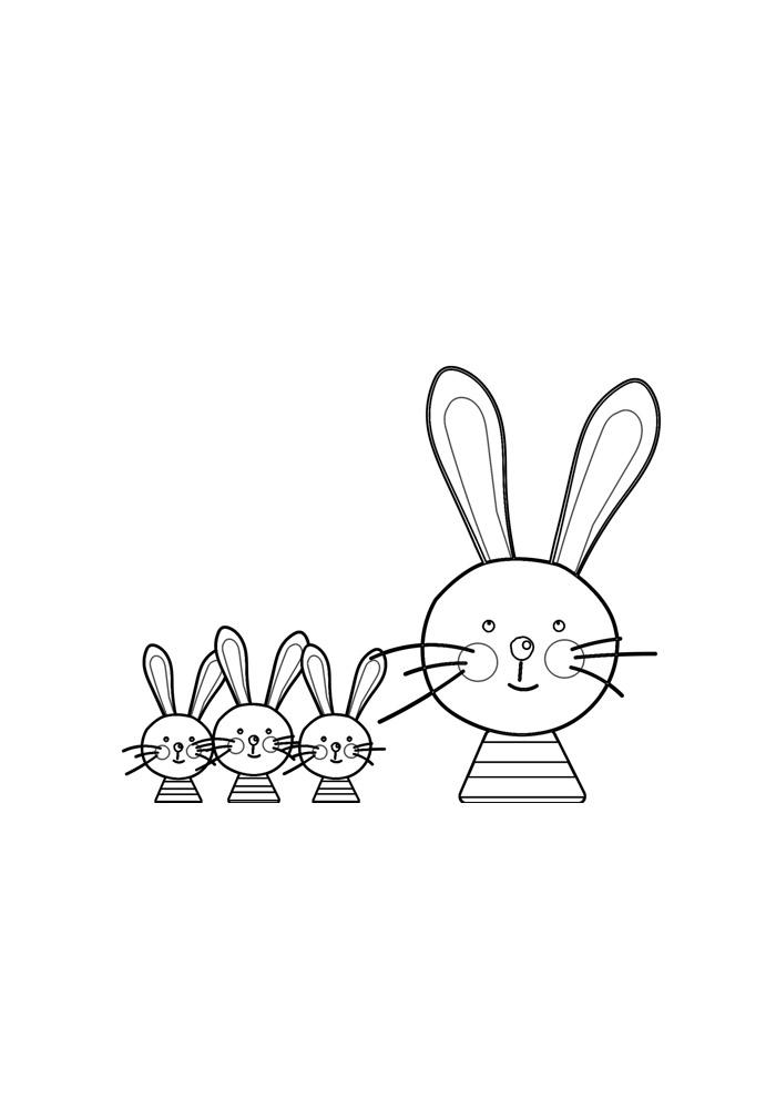coelho para colorir 38
