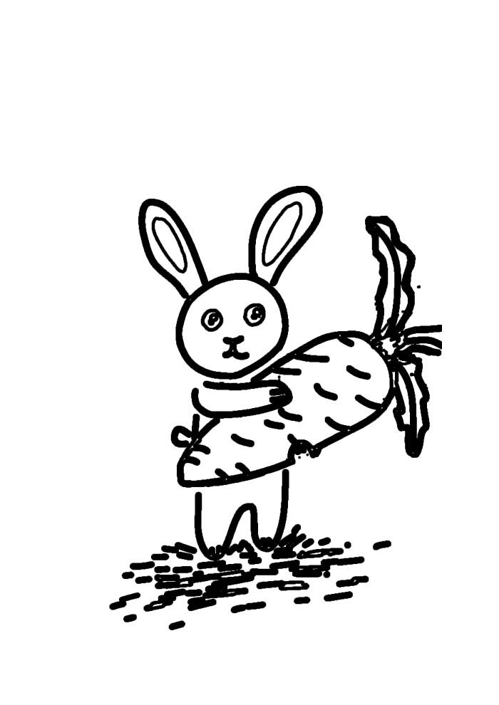 coelho para colorir 45
