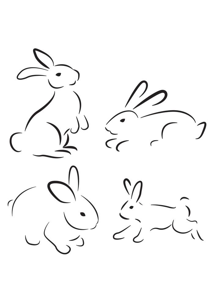 coelho para colorir 46