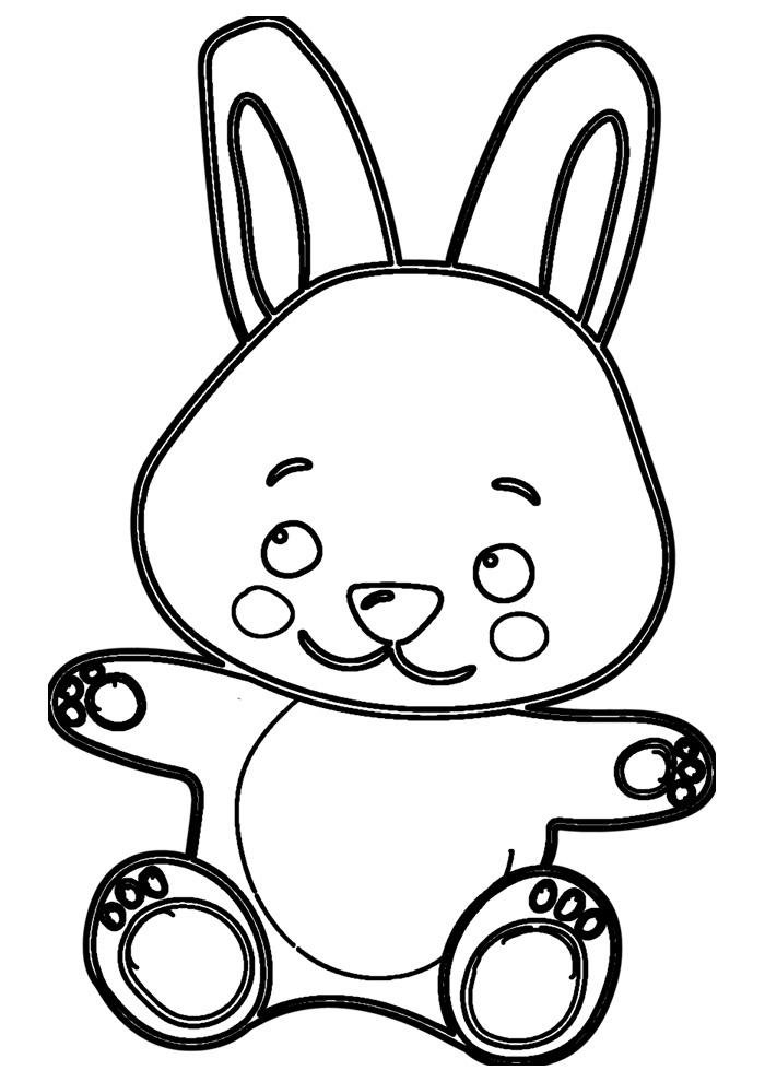 coelho para colorir 48