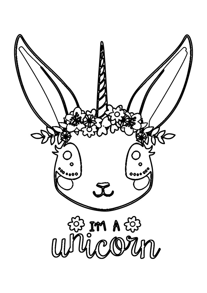 coelho para colorir 49