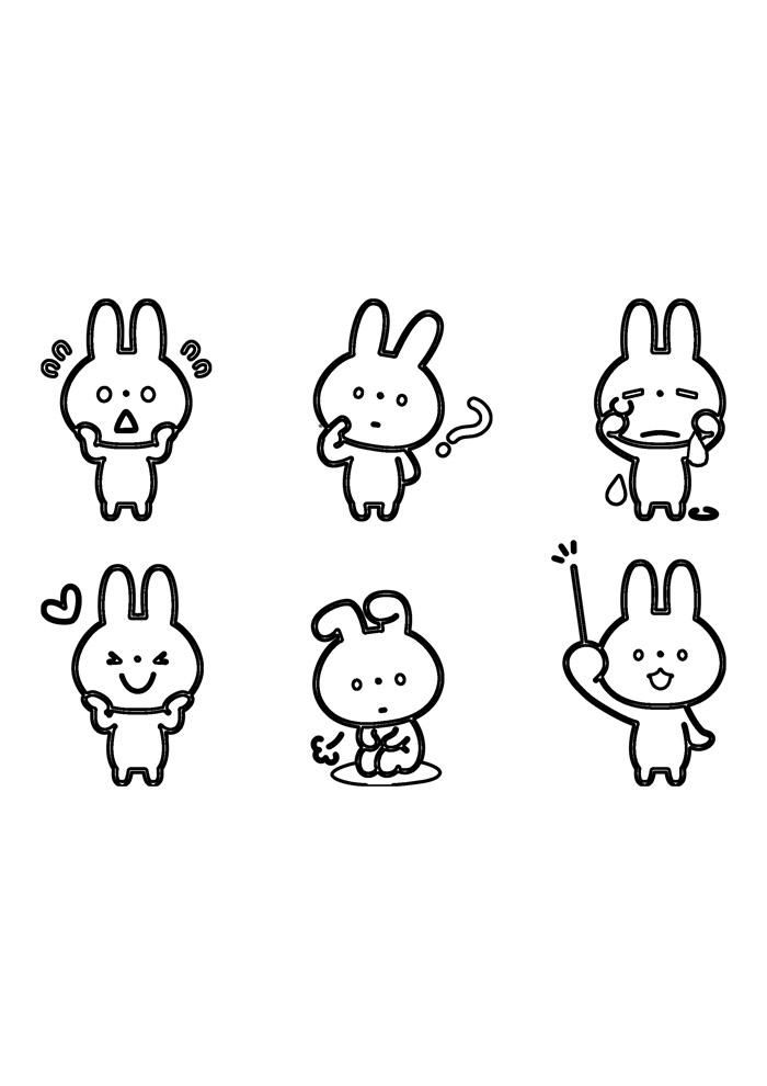 coelho para colorir 50