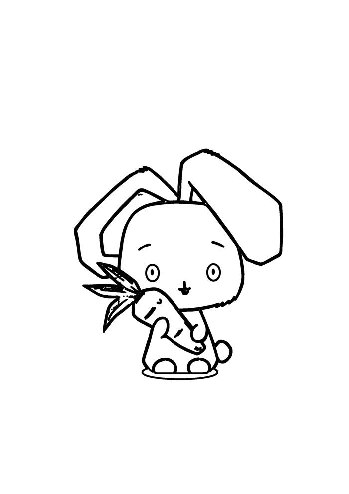 coelho para colorir 51