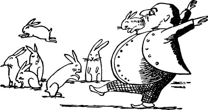coelhos para imprimir e colorir