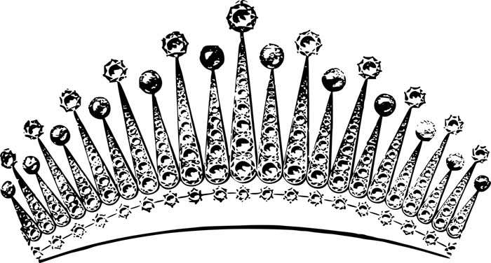 coroa de princesa para colorir