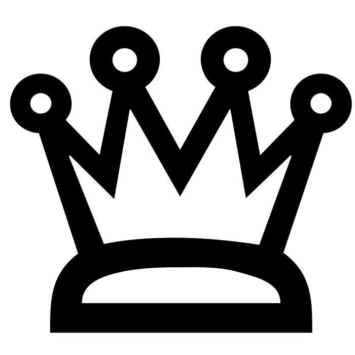 coroa de principe para colorir