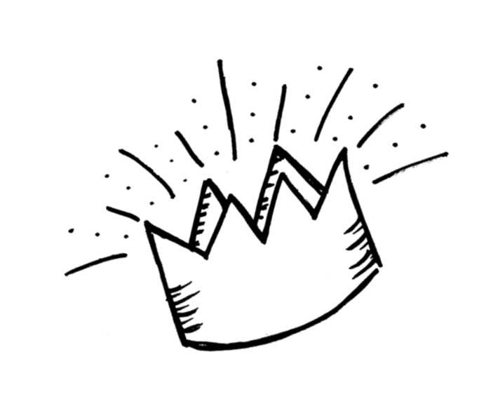 coroa de rei para pintar