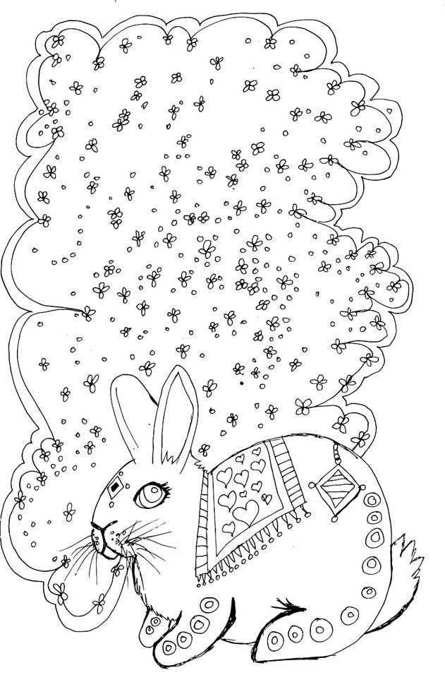 desenho de coelho para colorir