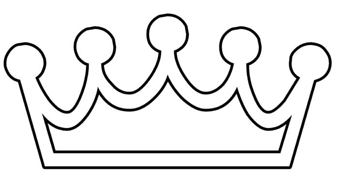 desenho de coroa para imprimir