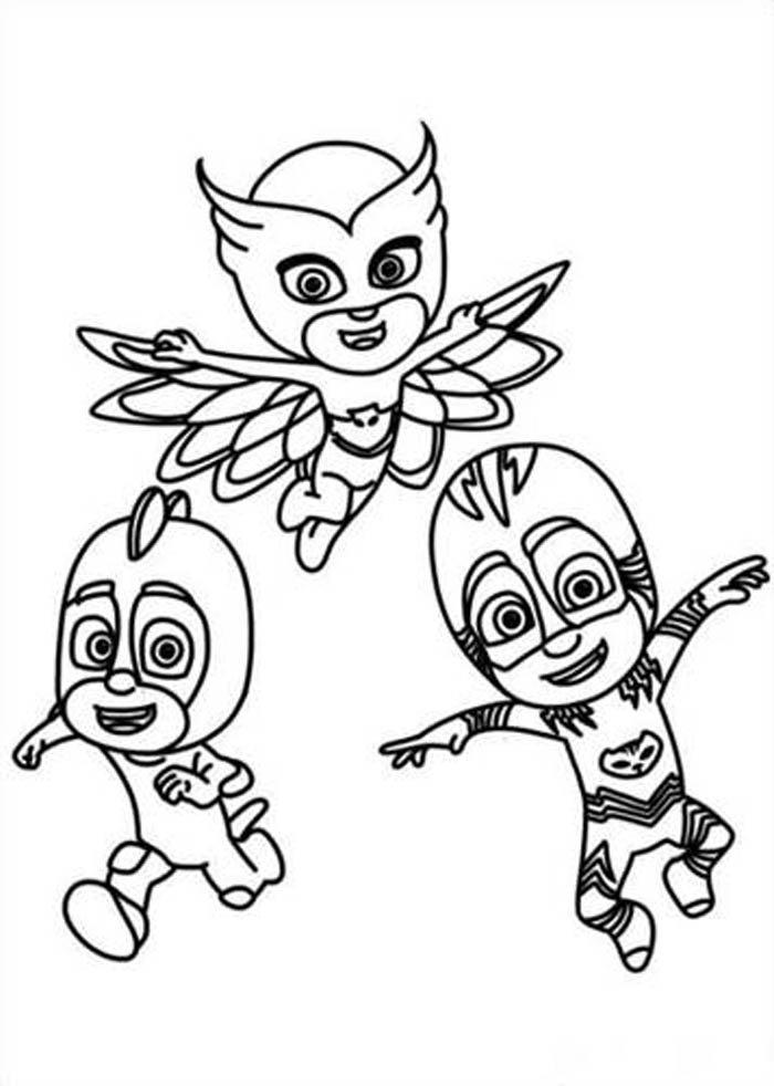 desenho dos pj masks para colorir