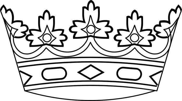 desenho para colorir de coroa
