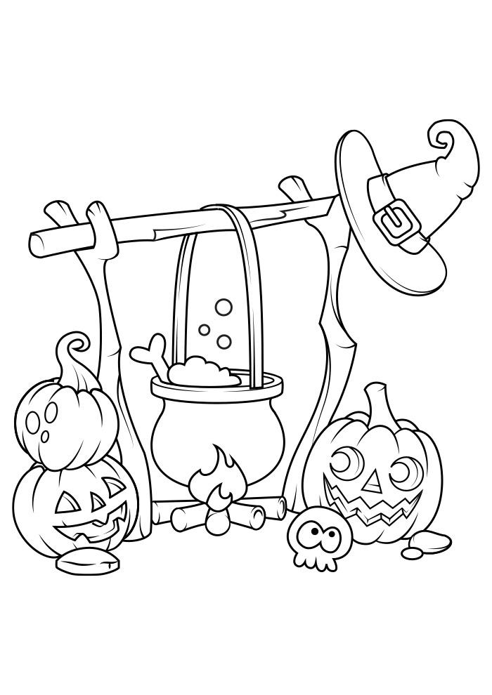 halloween para colorir 11