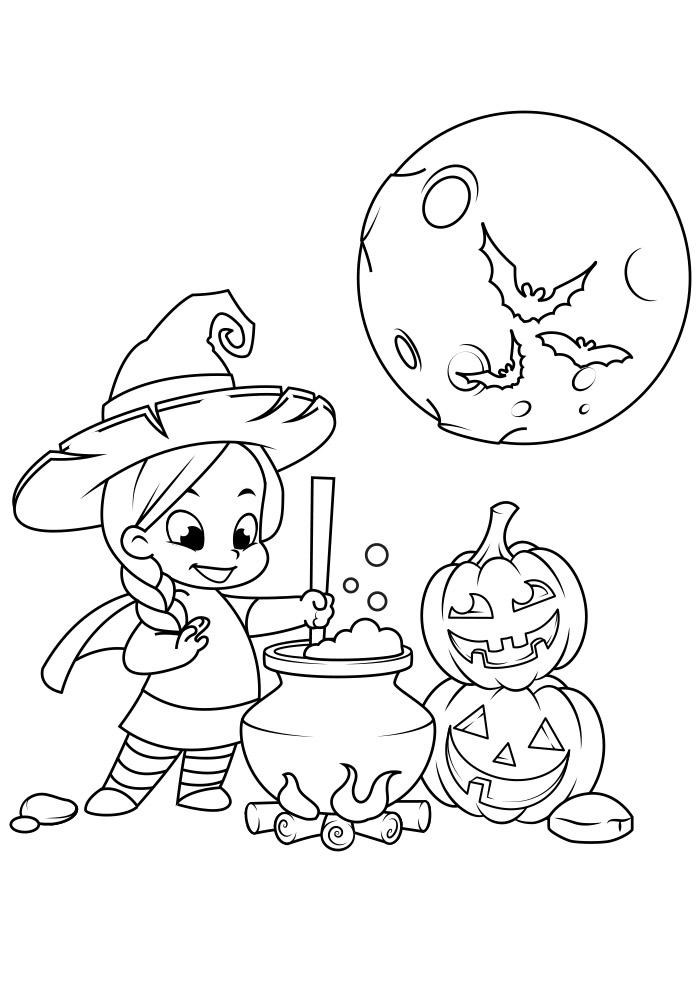halloween para colorir 12