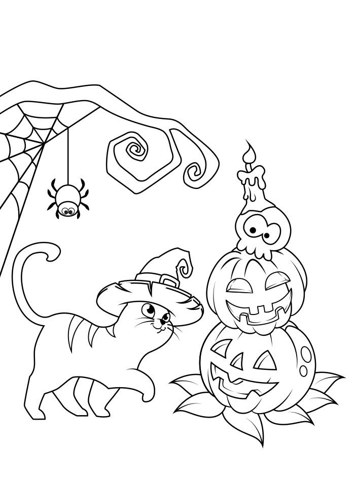 halloween para colorir 14