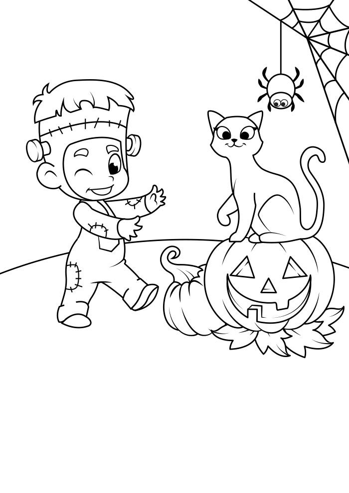halloween para colorir 16